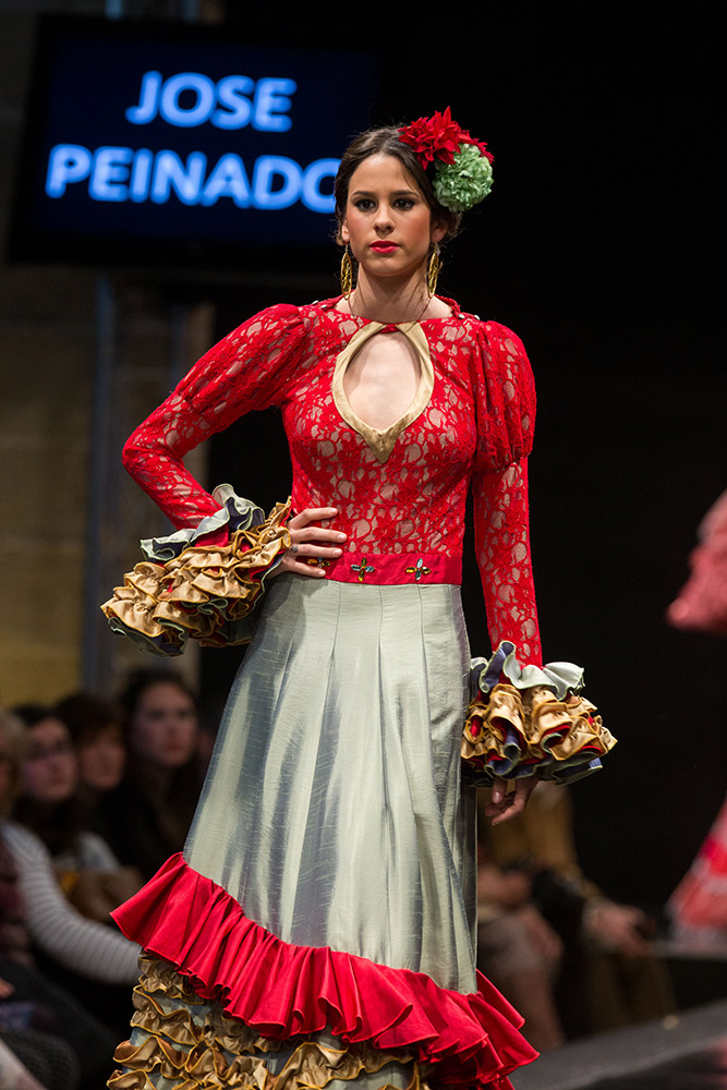 Encantador peinados flamenca 2021 Imagen de tutoriales de color de pelo - José Peinado - Noveles Pasarela Flamenca Jerez 2015   Moda ...