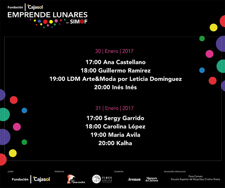 Emprende Lunares 2017 - Timing